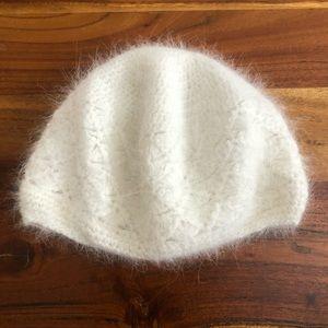 Angora Crochet Beanie - like new